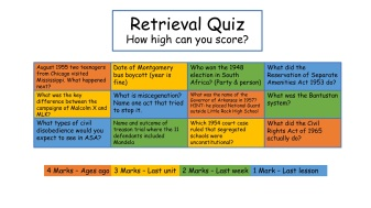 Retrieval quiz starter